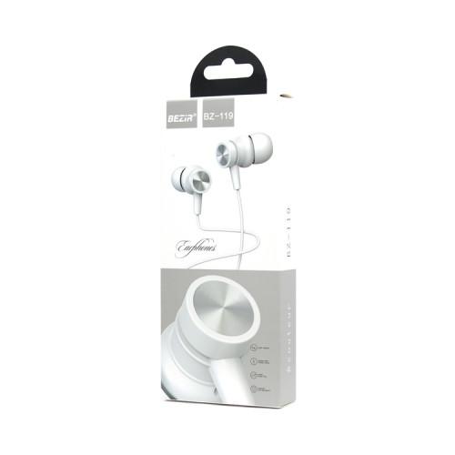 Наушники с микрофоном BZ-119 белый BEZIR