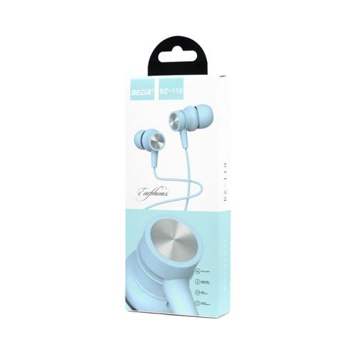 Наушники с микрофоном BZ-119 голубой BEZIR