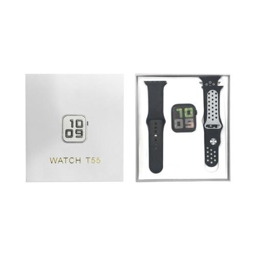Смарт-часы T55 черно-белый APL