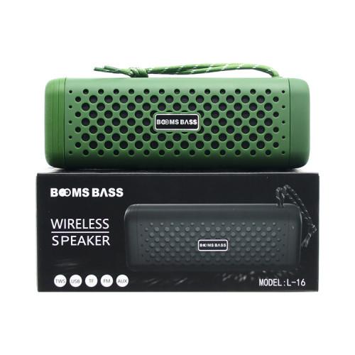Портативная колонка L16 зеленый BOOMS BASS
