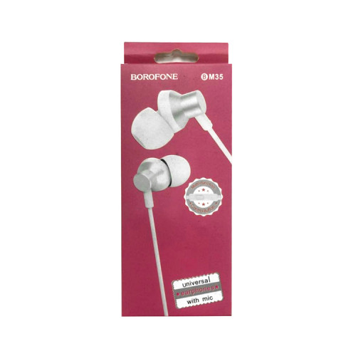 Наушники с микрофоном BM35 беый коп BOROFONE