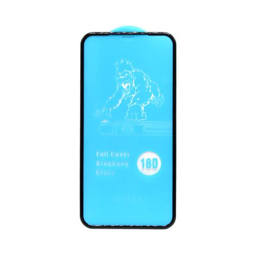 Защитное стекло 18D для Apple iPhone XR/11 рамка черный