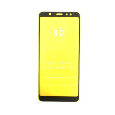Защитное стекло 3D для Samsung Galaxy J8/A6+/A9 2018 черный (техпак)