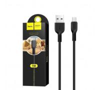 Кабель Micro USB X20 2.4A черный HOCO