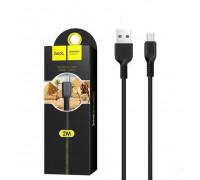 Кабель Micro USB X20 2M черный HOCO