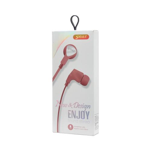 Наушники с микрофоном SE1003 розовый SIQILE