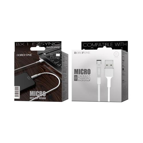 Кабель Micro USB BX1 2A белый BOROFONE