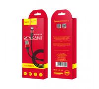 Кабель Micro USB X26 2.4A черно-красный HOCO