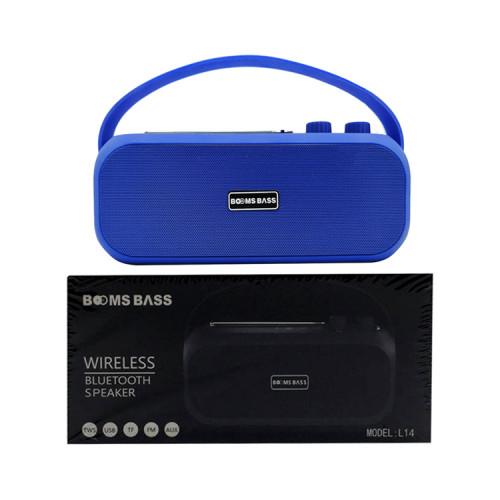 Портативная колонка L14 синий BOOMS BASS