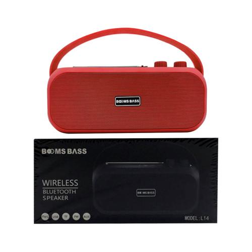 Портативная колонка L14 красный BOOMS BASS