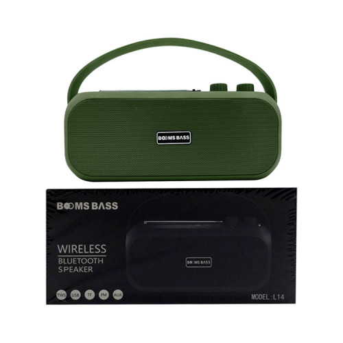 Портативная колонка L14 зеленый BOOMS BASS