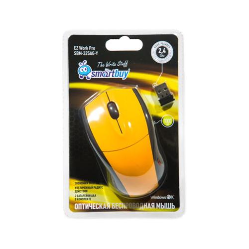 Мышь беспроводная SBM-325AG-Y желтый SMARTBUY