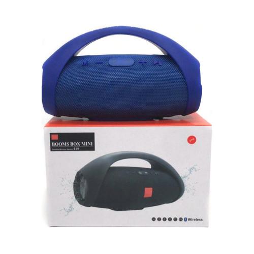 Портативная колонка BOOMS BOX MINI E10 синий JB