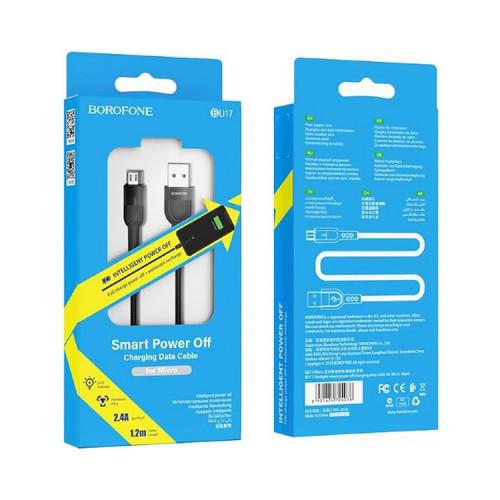 Кабель Micro USB BU17 2.4A черный BOROFONE