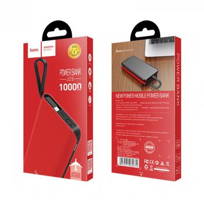 Внешний аккумулятор J25 Lightning 10000mAh красный HOCO