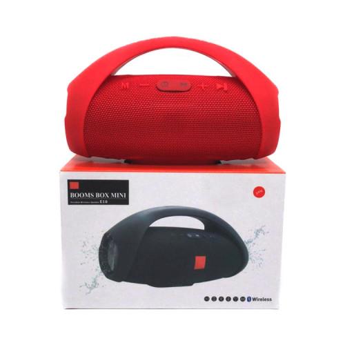 Портативная колонка BOOMS BOX MINI E10 красный JB