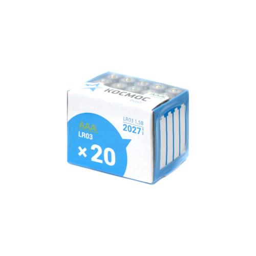 Элемент питания LR03 20BOX КОСМОС б/б 20шт.