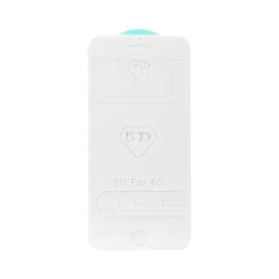 Защитное стекло 5D для Apple iPhone 6/6S белый (техпак)