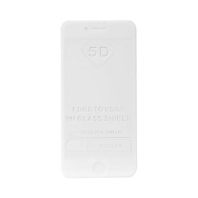 Защитное стекло 5D для Apple iPhone 7/8 белый (техпак)