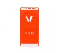Защитное стекло 3D для Xiaomi Redmi Note 5 белый (техпак)