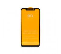 Защитное стекло 3D для Xiaomi Poco F1 черный (техпак)