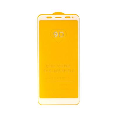 Защитное стекло 3D для Xiaomi Redmi 5+/Note 5 Pro белый (техпак)