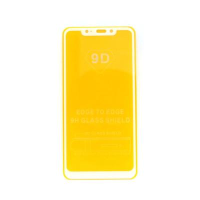 Защитное стекло 3D для Xiaomi Redmi Note 6 Pro белый (техпак)