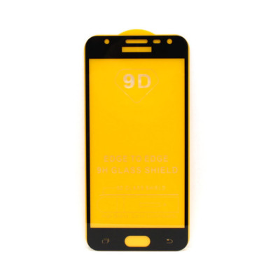 Защитное стекло 3D для Samsung Galaxy J5 Prime черный (техпак)