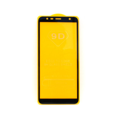 Защитное стекло 3D для Samsung Galaxy J6+ черный (техпак)