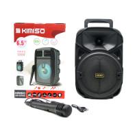 Портативная колонка KMS-3382 с микрофоном черный KIMISO