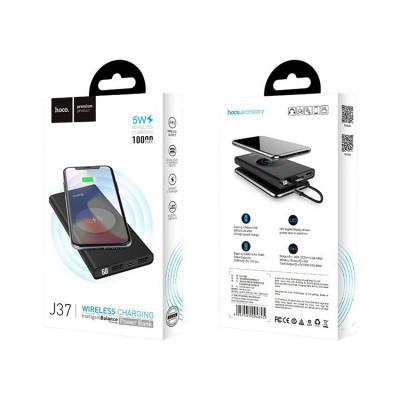 Внешний аккумулятор J37 (w.charge) 10000mAh черный HOCO