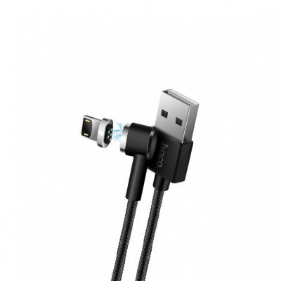 Кабель Lightning + Micro USB U20 магнитный черный HOCO