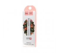(К) Кабель Micro USB U34 белый HOCO