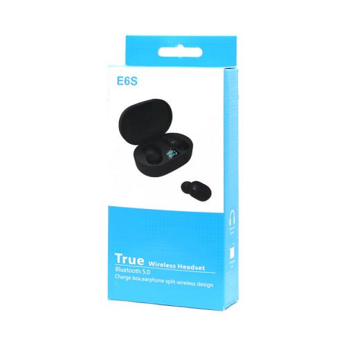 Беспроводные наушники E6S черный