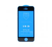 Защитное стекло 3D для Apple iPhone 5/5S черный (техпак)