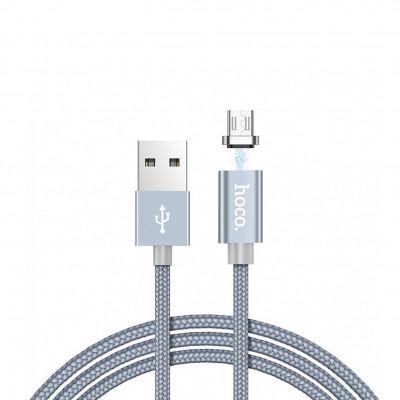 Кабель Micro USB U40A магнитный серый HOCO