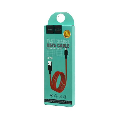 (К) Кабель Micro USB X29 красный HOCO