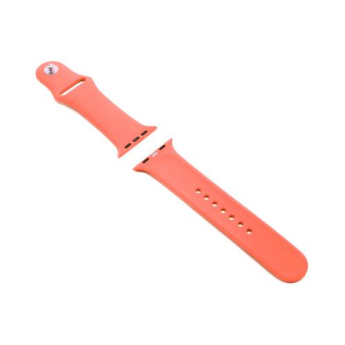 Ремешок силиконовый для Apple Watch 42-44mm оранжево-коралловый