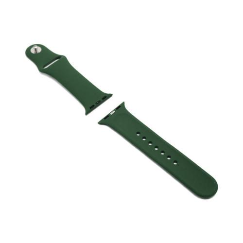 Ремешок силиконовый для Apple Watch 38-40Smm темно-зеленый