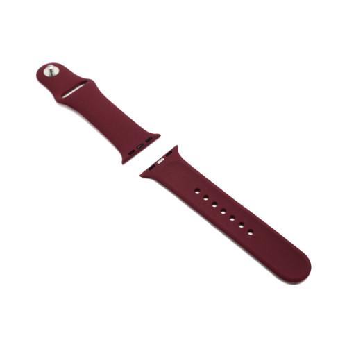 Ремешок силиконовый для Apple Watch 38-40Smm марон