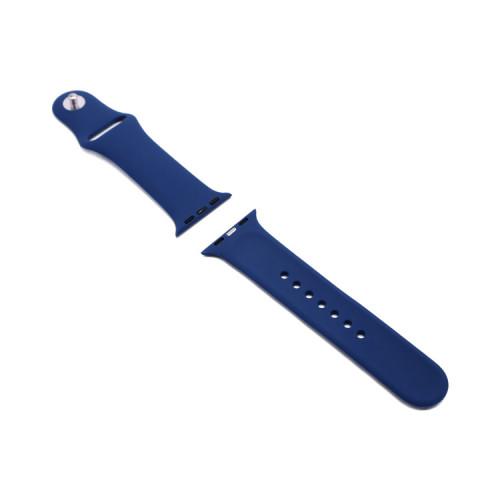 Ремешок силиконовый для Apple Watch 38-40Smm темно-синий