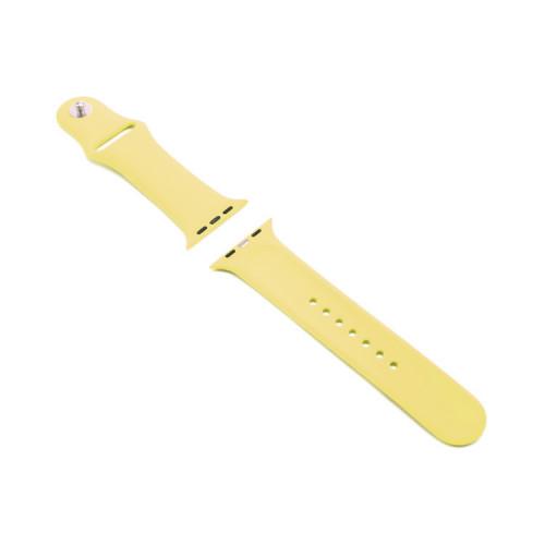 Ремешок силиконовый для Apple Watch 42-44mm желтый