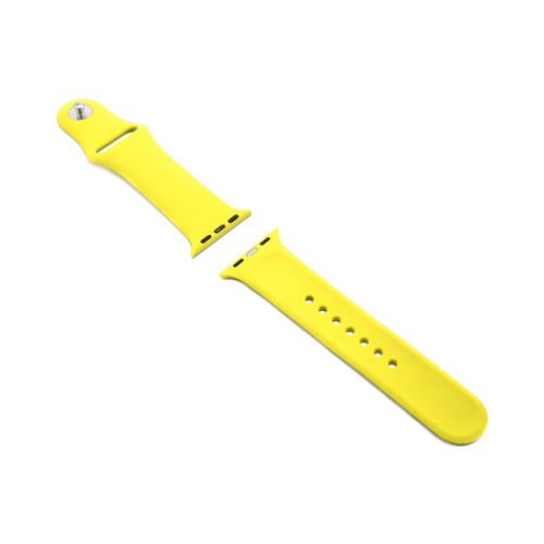 Ремешок силиконовый для Apple Watch 38-40Smm желтый
