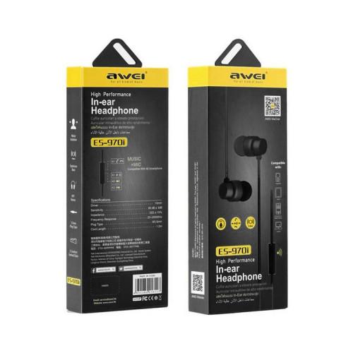 Наушники с микрофоном ES-970i черный AWEI