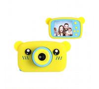Детский фотоаппарат + чехол мишка KC600 желтый