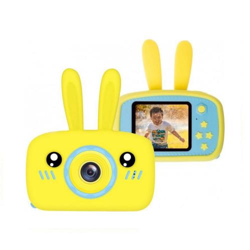Детский фотоаппарат + чехол зайчик KC600 желтый