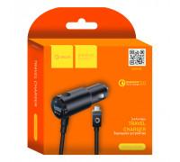 АЗУ USB SM04 Micro USB QC3.0 2.4A 1.2M черный DREAM