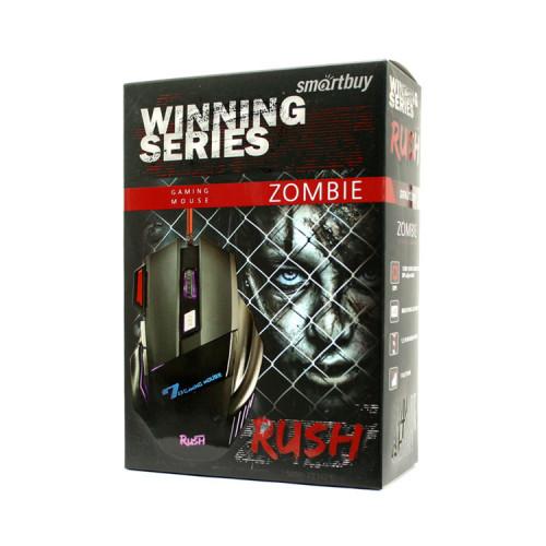 Мышь игровая проводная SBM-721G-K RUSH ZOMBIE черный SMARTBUY