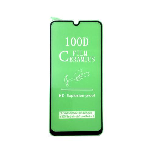 Гибкое стекло для Samsung Galaxy A20/A30/A50 черный Ceramics Anti-Shock