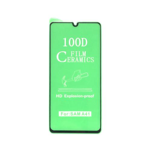 Гибкое стекло для Samsung Galaxy A41 черный Ceramics Anti-Shock